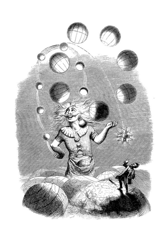 "Jean Inias Isidore (Gerard) Granville. The juggler is the Universe. A series of ""Other World"""