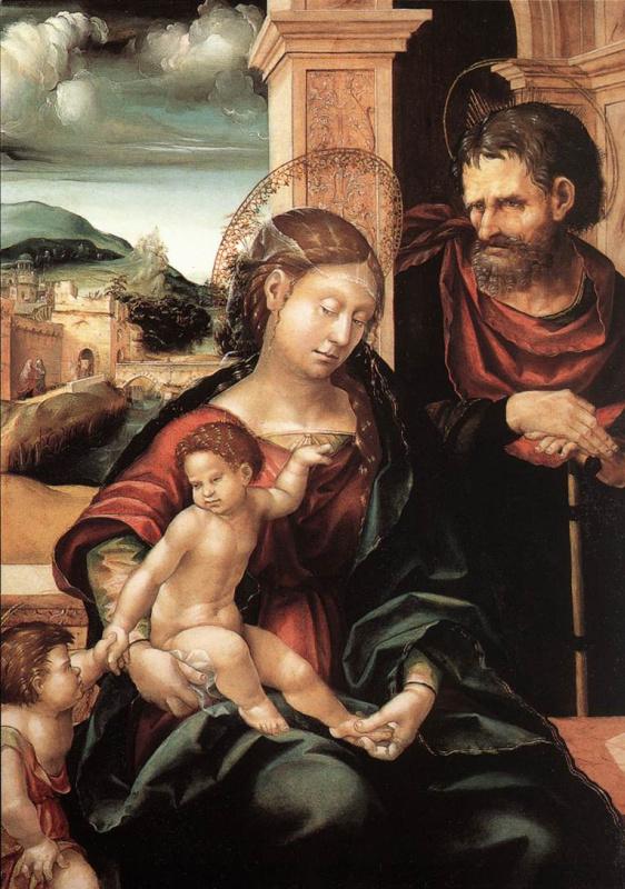 Ганс Бургкмайр. Святое семейство со Святым Иоанном