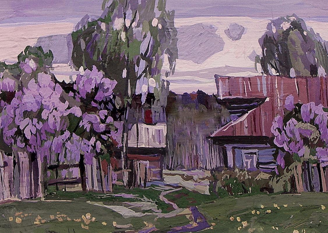 Oleg Borisovich Zakharov. Lilac evening.
