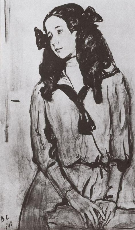 Валентин Александрович Серов. Портрет Н. З. Раппопорт