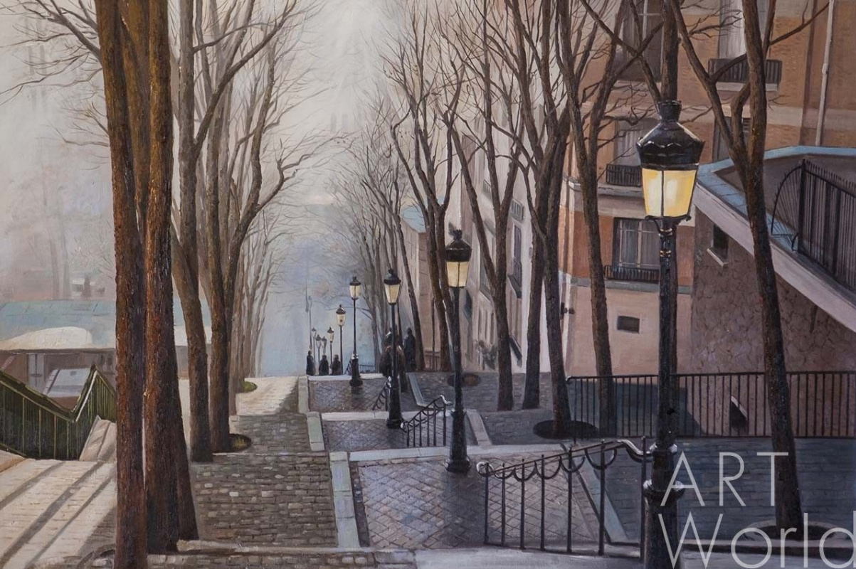 Savely Kamsky. Paris. Fog. Montmartre