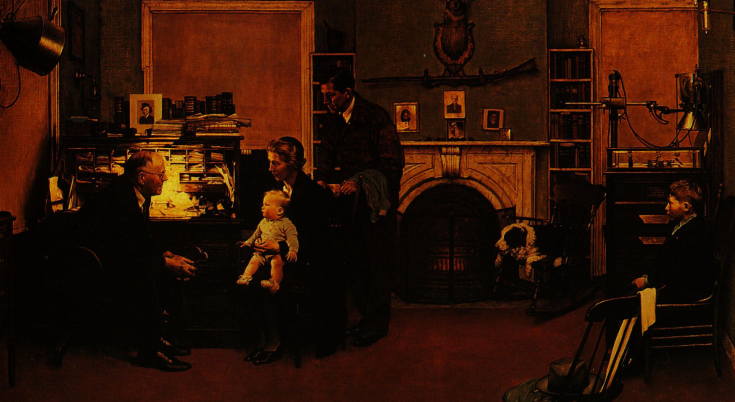Norman Rockwell. Family doctor
