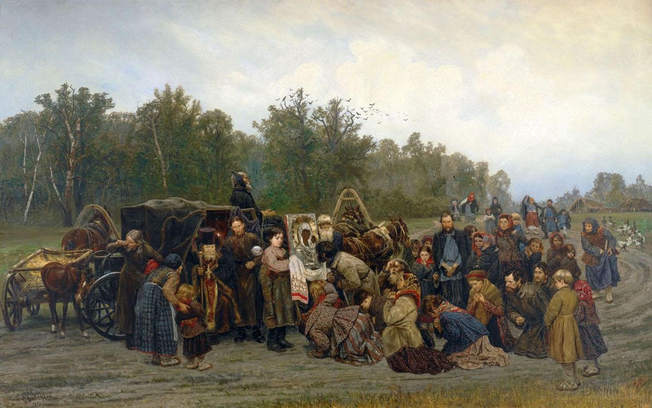 Константин Аполлонович Савицкий. Встреча иконы