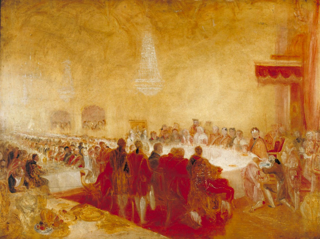 Joseph Mallord William Turner. George IV at a Banquet with the Lord Provost in Parliament, Edinburgh