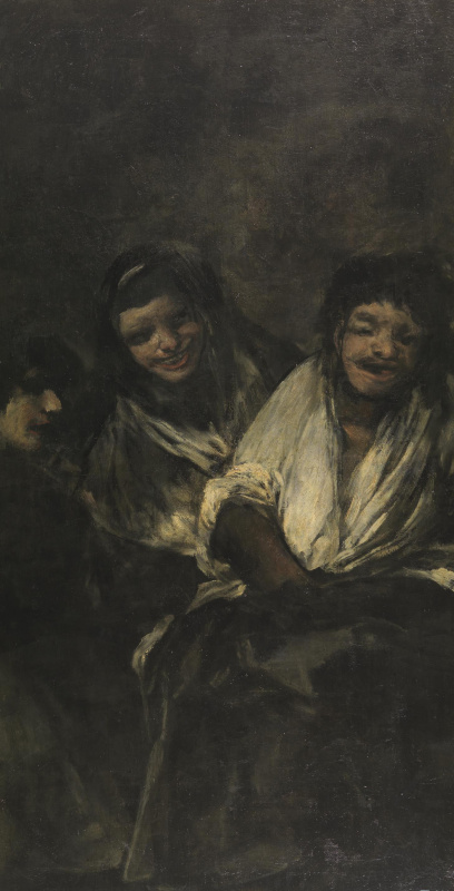 Francisco Goya. Two women and a man