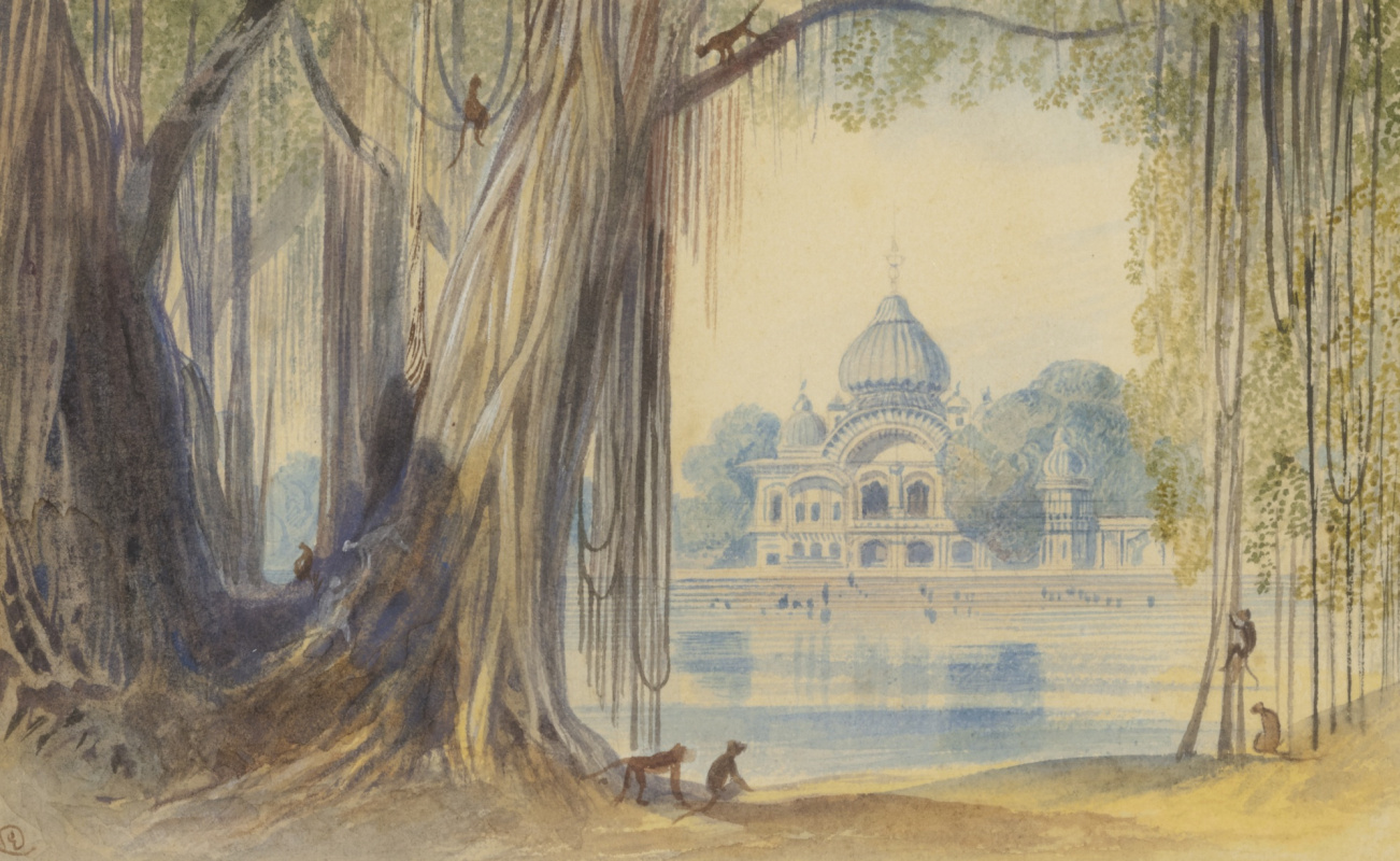 Эдвард Лир. Temple in india