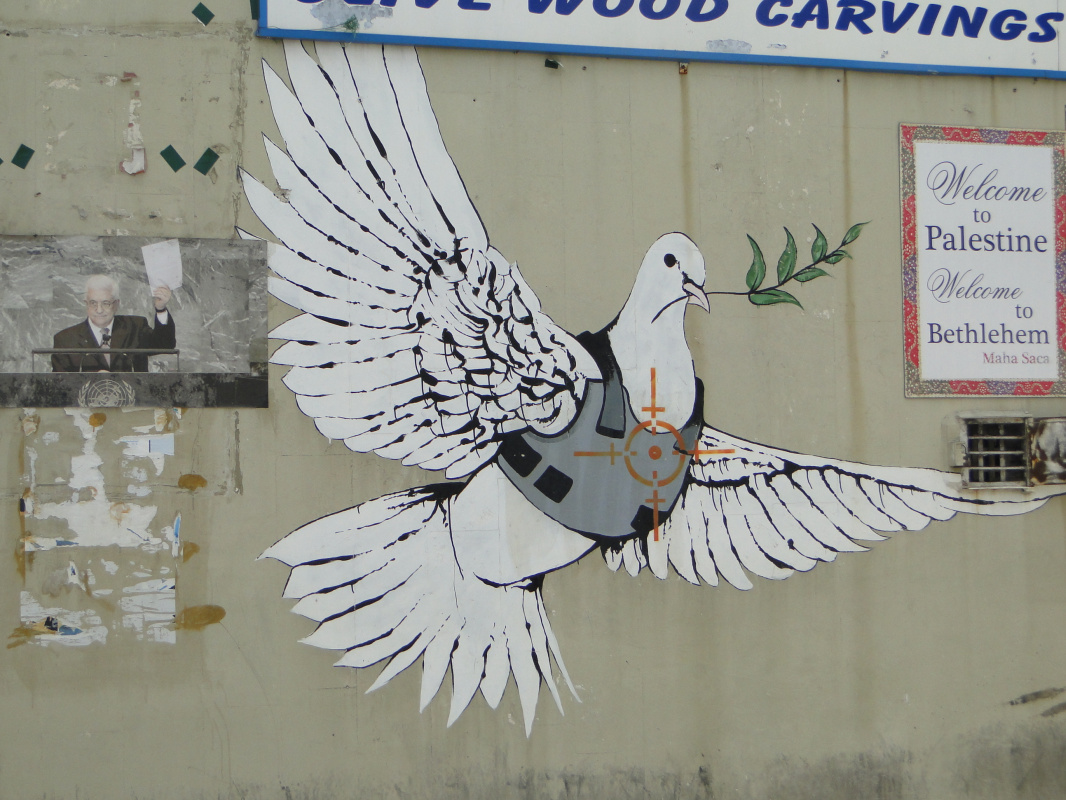 Banksy. Dove of peace