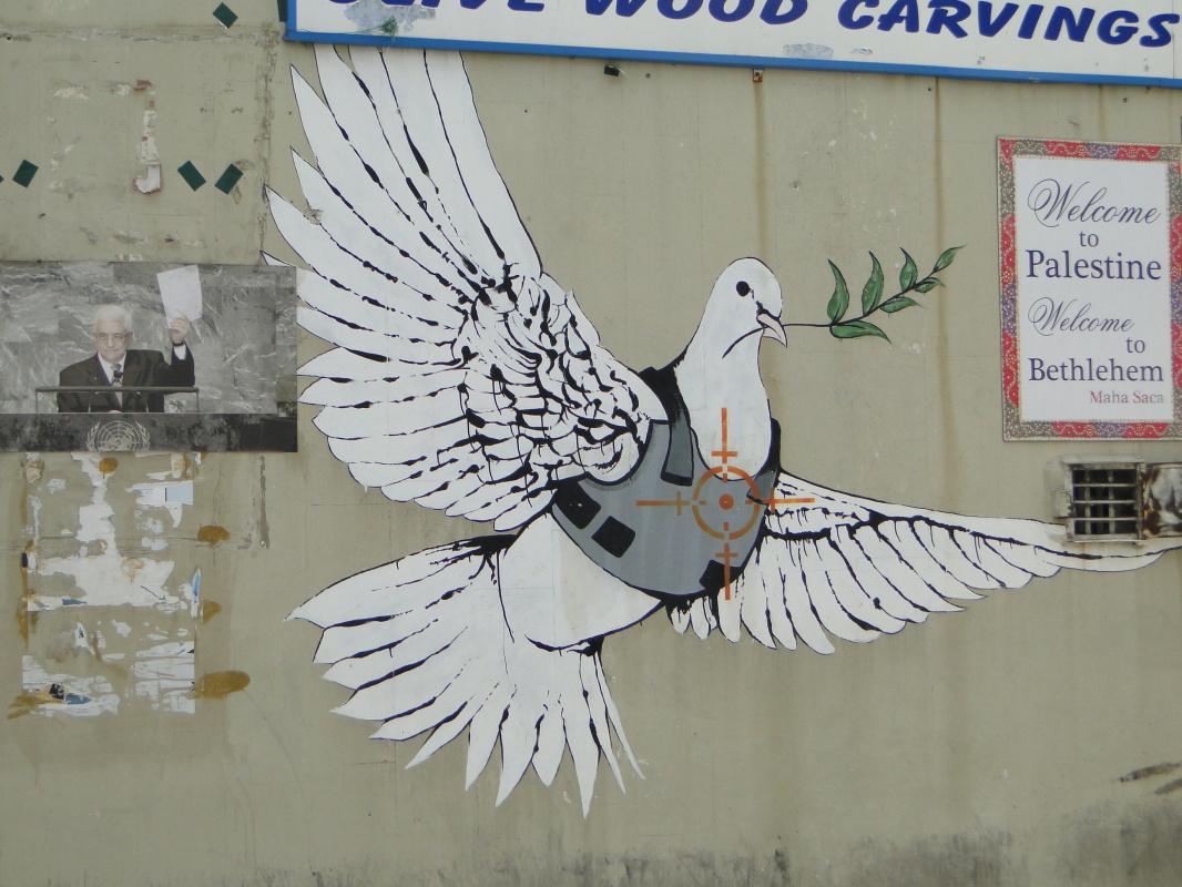 Banksy. Dove of peace