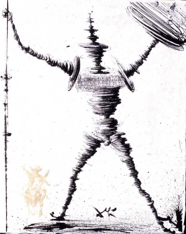 """Salvador Dali. Don Quixote (illustration for the novel """"don Quixote"""")"""