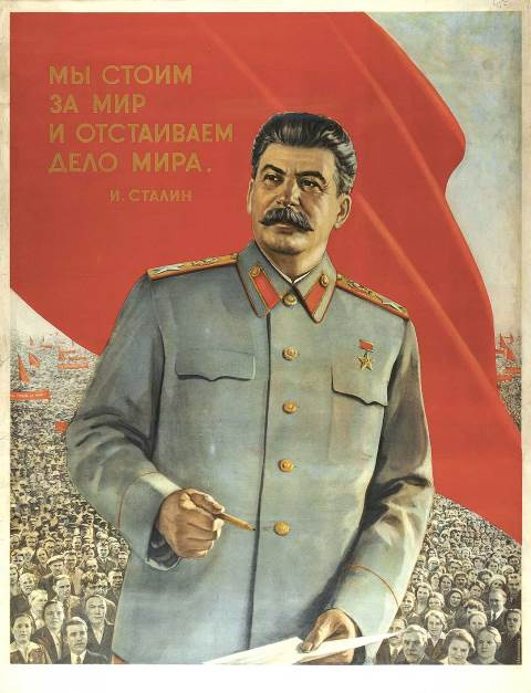 Unknown artist. Stalin. We stand for peace and defend peace. M., 1950