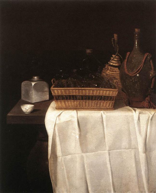 Себастьян Штоскопф. Натюрморт со стеклянной посудой