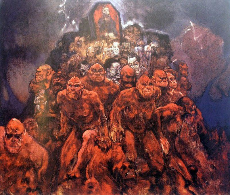 Ivan Myasoedov. Crowd of demons