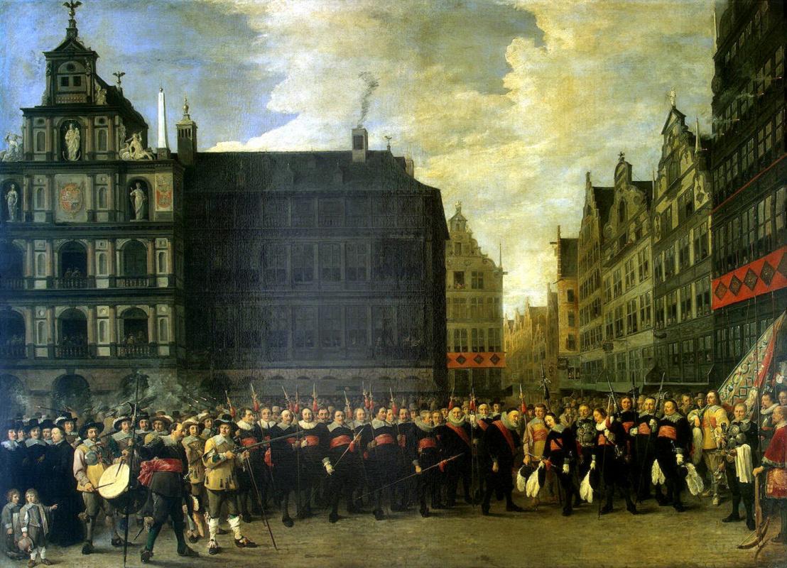 Давид Тенирс Младший. Групповой портрет членов стрелковой гильдии Старый лук в Антверпене