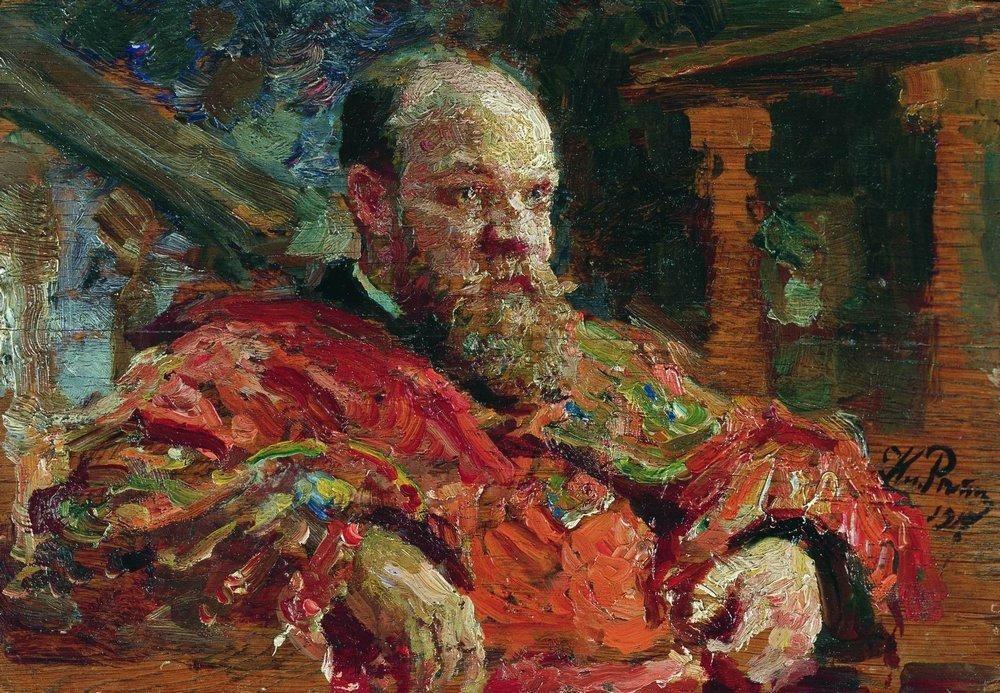 Илья Ефимович Репин. Портрет Н. В. Делярова
