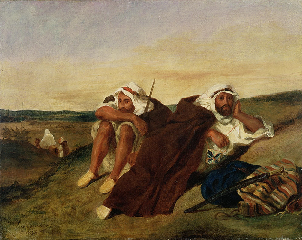 Eugene Delacroix. Arabs on holiday in the vicinity of Oran in Algeria