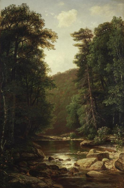 Хецель Джордж. Пейзаж с рекой