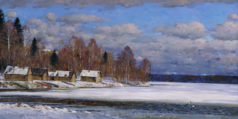 Alexander Victorovich Shevelyov. Spring is in the heater. oil on canvas 50 # 99 see 2007