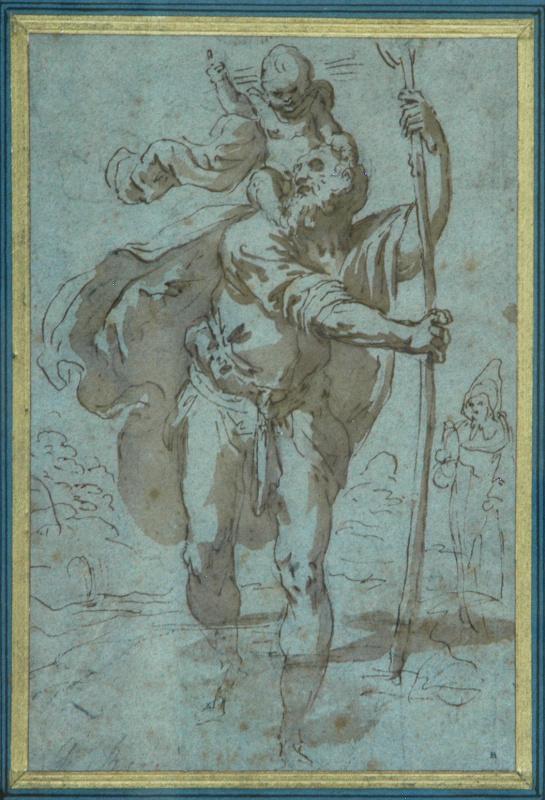 Jacopo Palma il Giovane. Святой Христофор переходящий ручей
