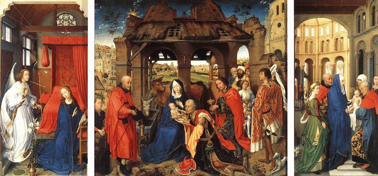 Rogier van der Weyden. The altar of St. Colomba