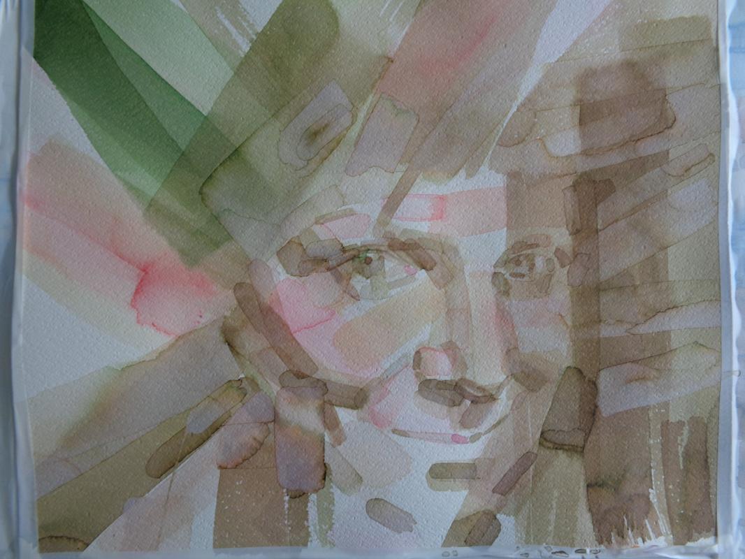 Alisa Vladimirovna Burmisova. Self-portrait