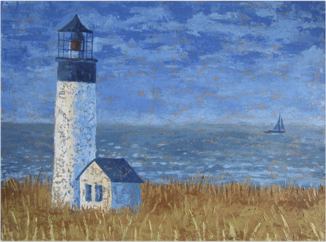 Tatiana Sergeevna Solovieva. Lighthouse. The sound of the sea and the rustle of dry grass