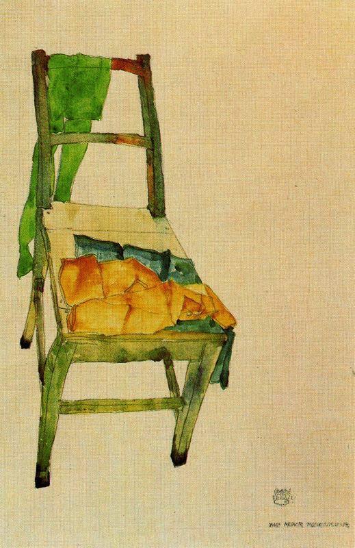 Egon Schiele. Two of my scarf