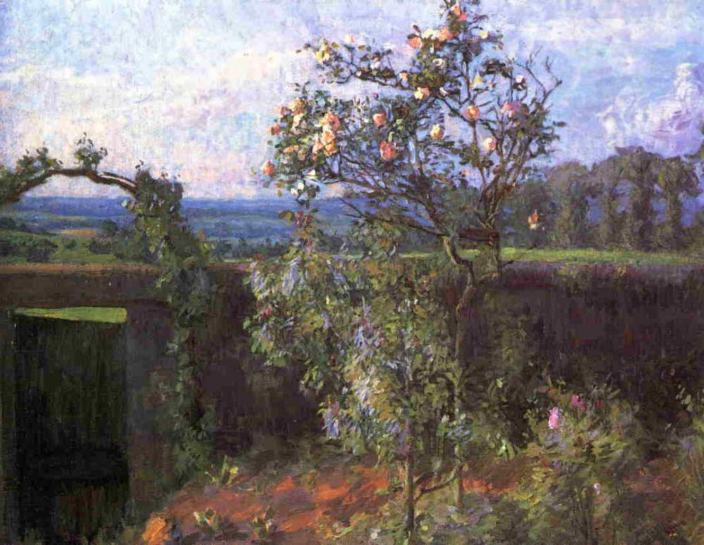 Gustave Caillebotte. Landscape near Yerres