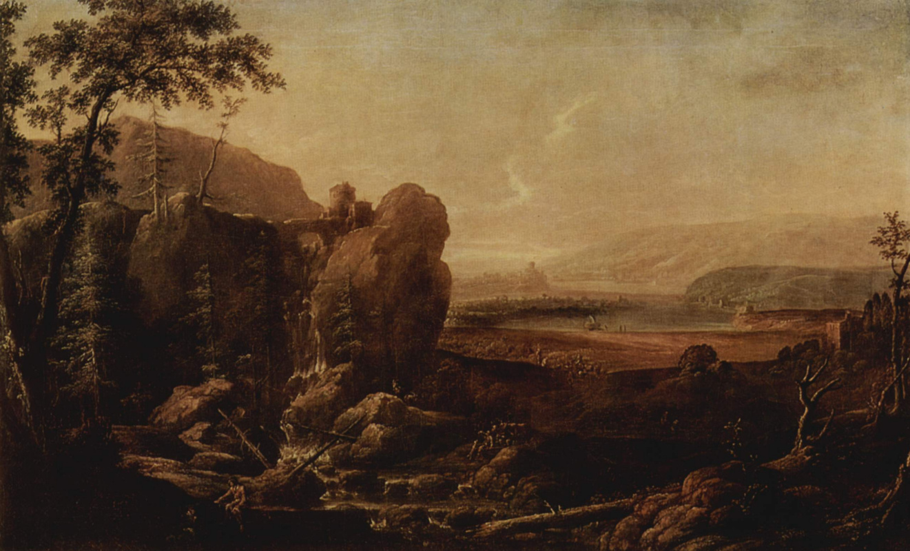Alexander Thiele. Landscape with waterfall