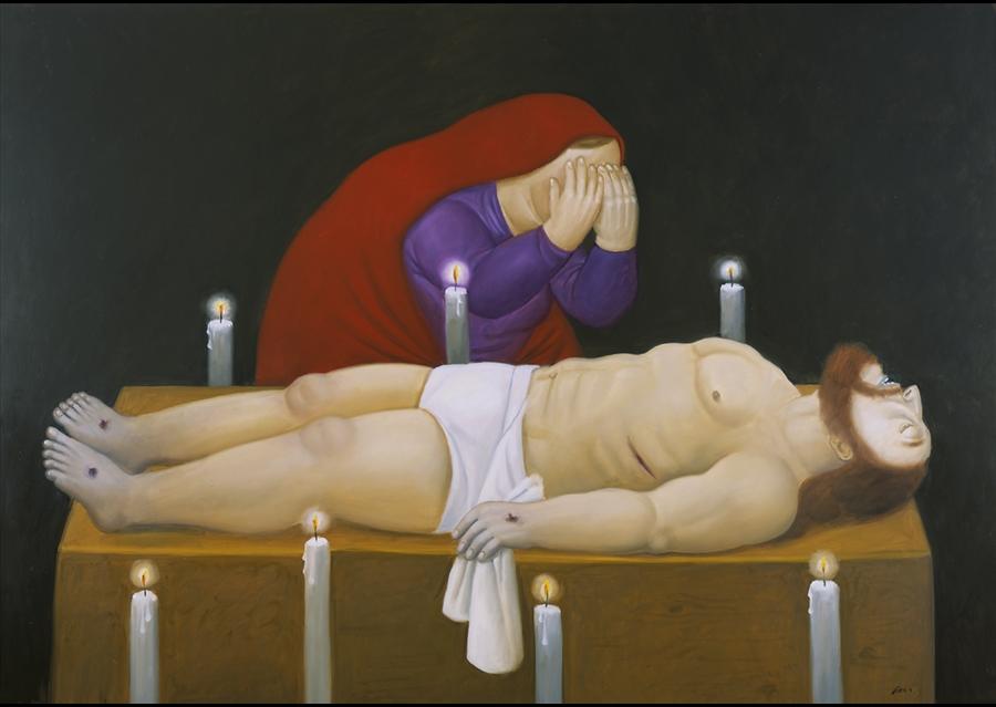 Фернандо Ботеро. Христос и смерть
