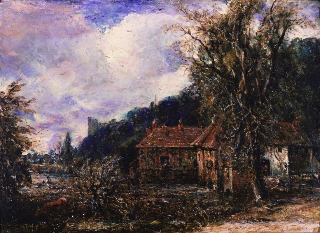 John Constable. Mill and Arundel castle. Sketch