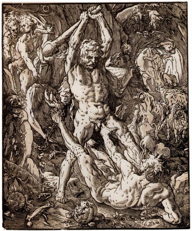 Hendrik Goltzius. Hercules and Cacus