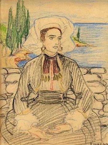Elena Kiseleva. Konoplyanka. 1920