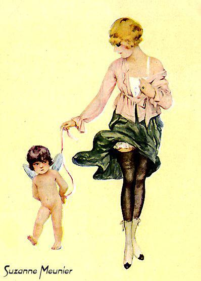 Сюзанна Менье. Зеленая юбка дамы