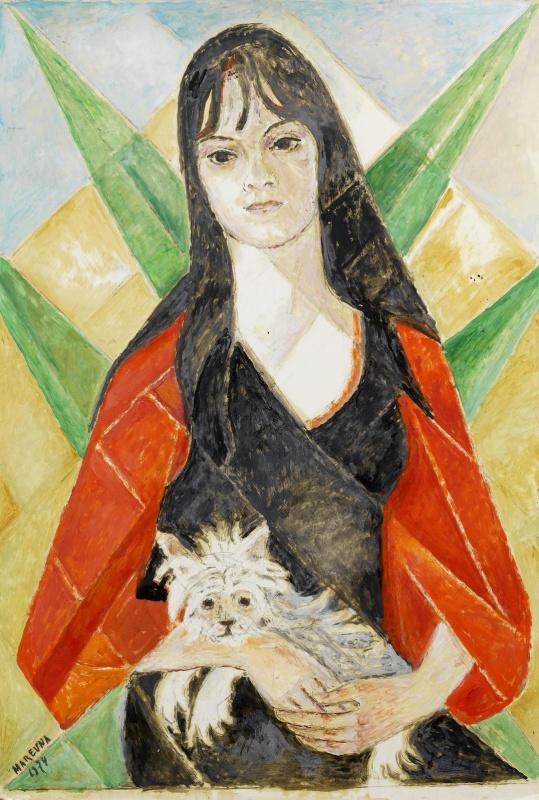 Мария Брониславовна (Воробьева-Стебельская) Маревна. Девушка с собакой.1974