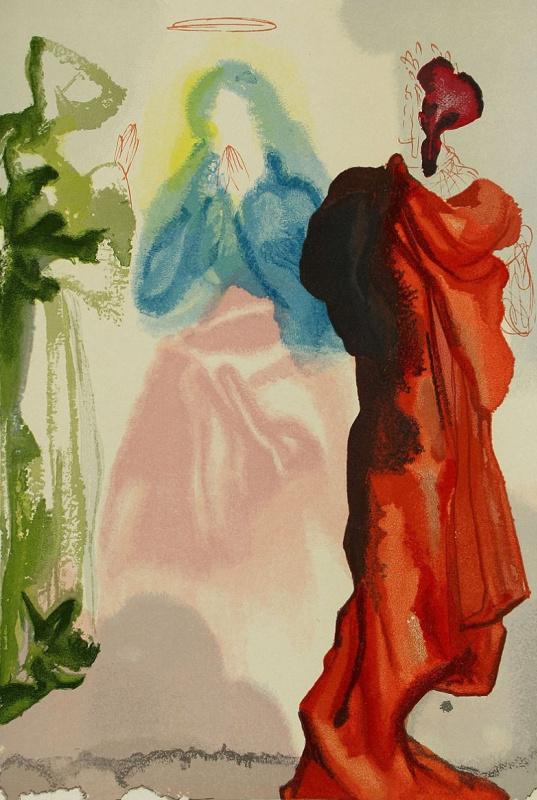 Salvador Dali. Prayer. Illustrations for the Divine Comedy
