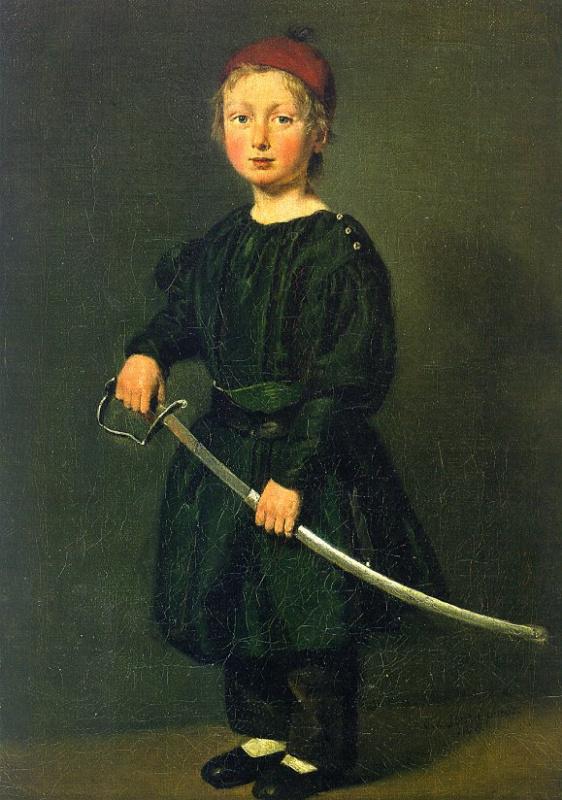 Ребенок с мечем