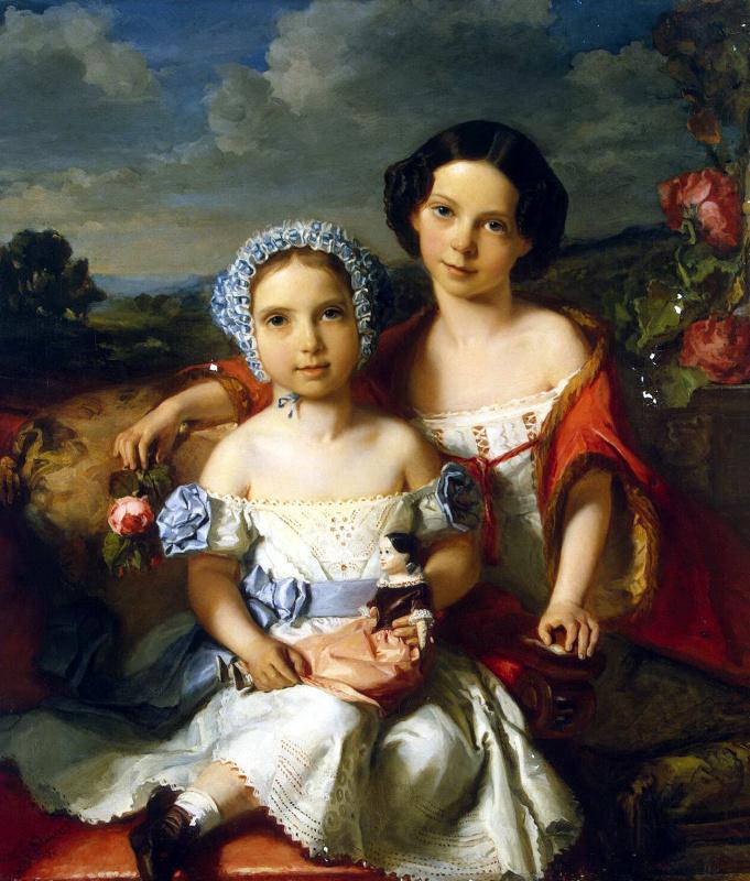 Виталь жан де Гронкель. Портрет двух детей