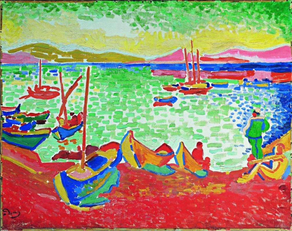Andre Derain. Bâteaux dans le Port de Collioure