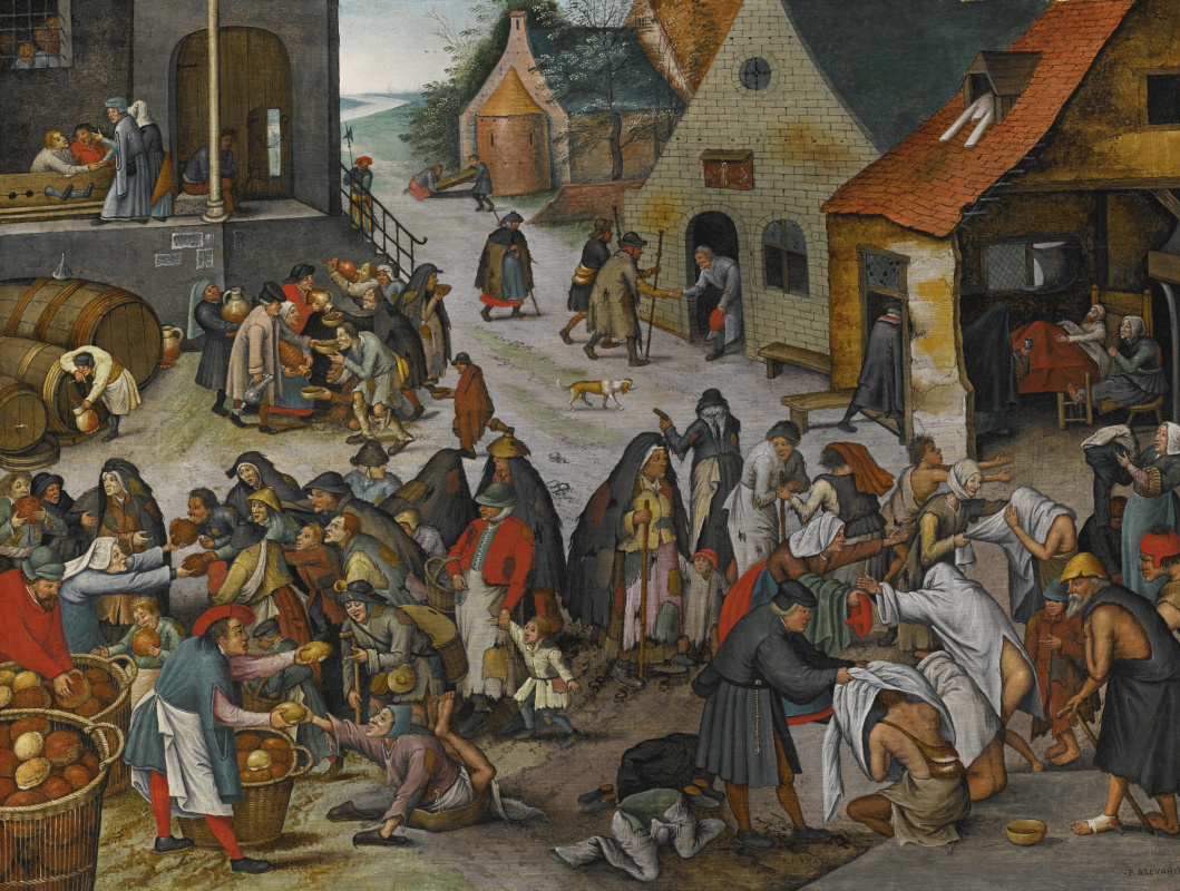 Peter Brueghel The Younger. Seven acts of mercy II