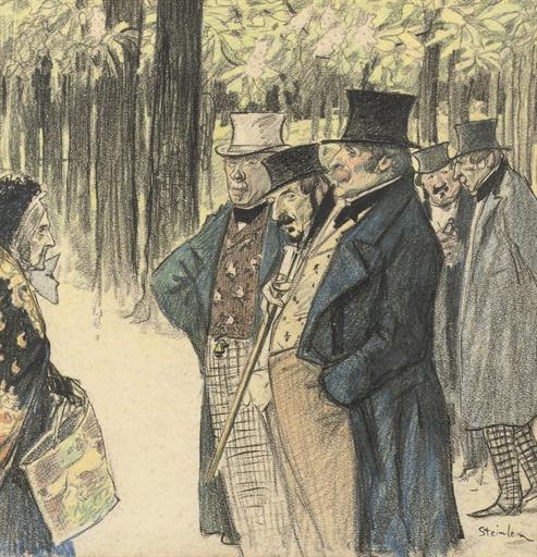 Theophile-Alexander Steinlen. An unexpected meeting