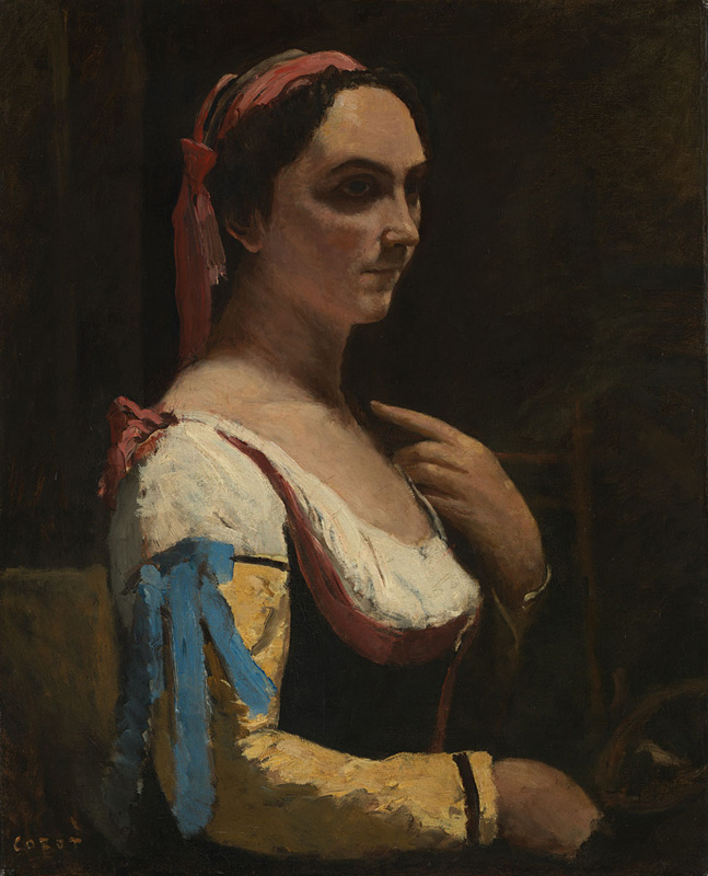 Camille Corot. The Italian woman, or Woman with yellow sleeve