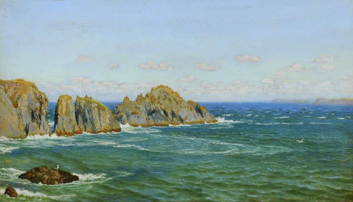 Arthur Hughes. Rocky Coast, North Cornwall