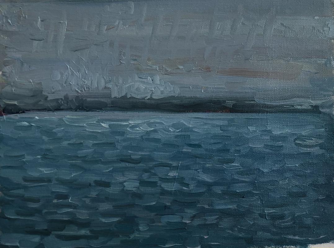 Victoria Malshakova. Rainfall in the ocean.