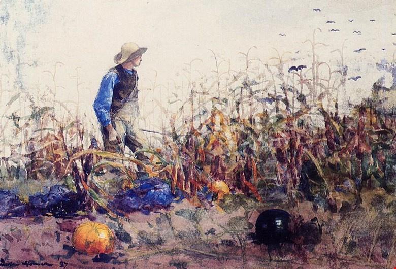Winslow Homer. Among vegetables