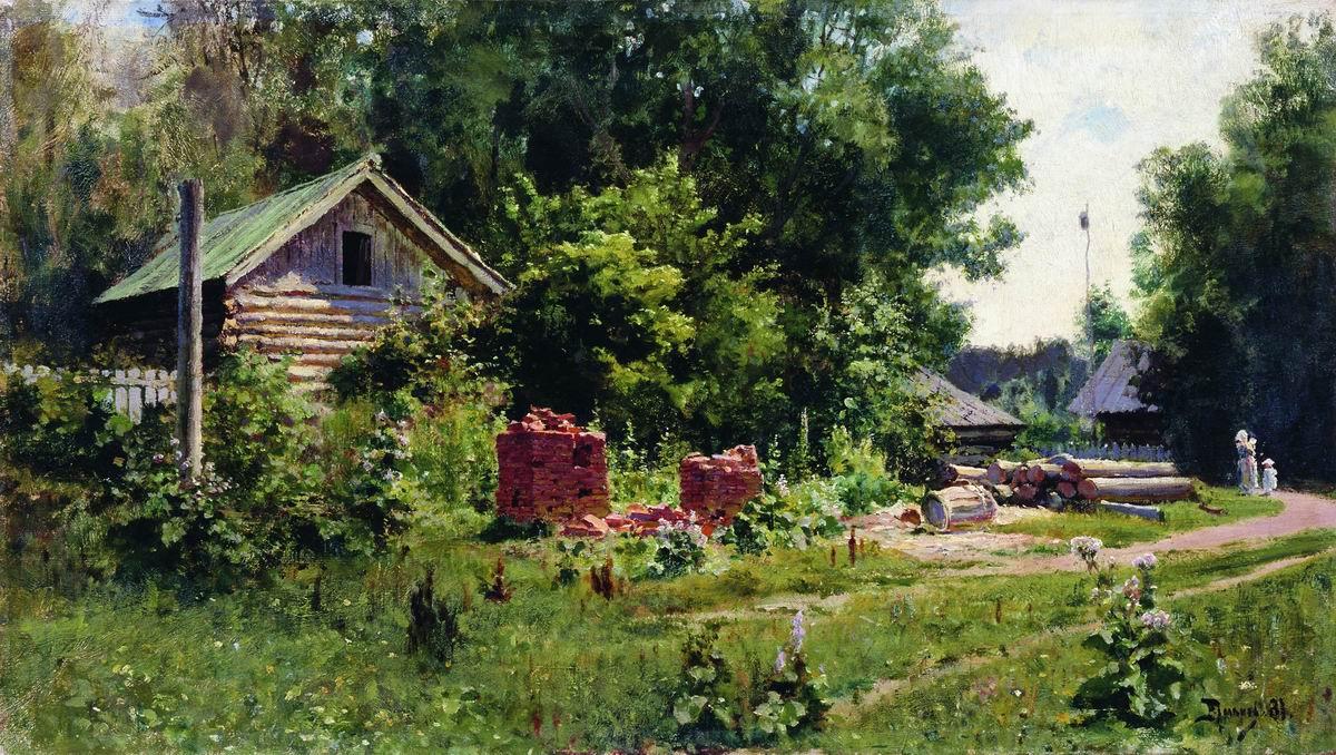 Vasily Dmitrievich Polenov. Patio