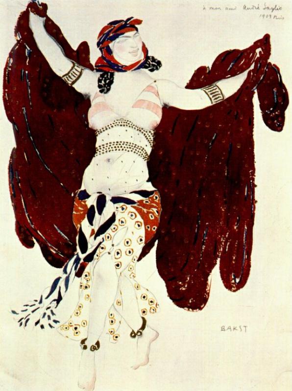 Лев Самойлович Бакст (Леон Бакст). Сирийский танец. Клеопатра.