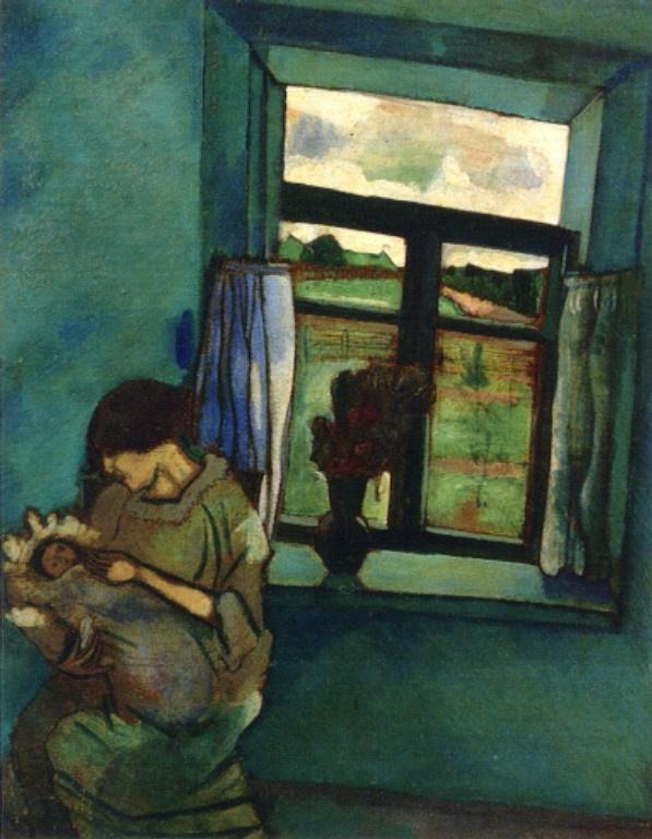 Марк Захарович Шагал. Белла и Ида у окна