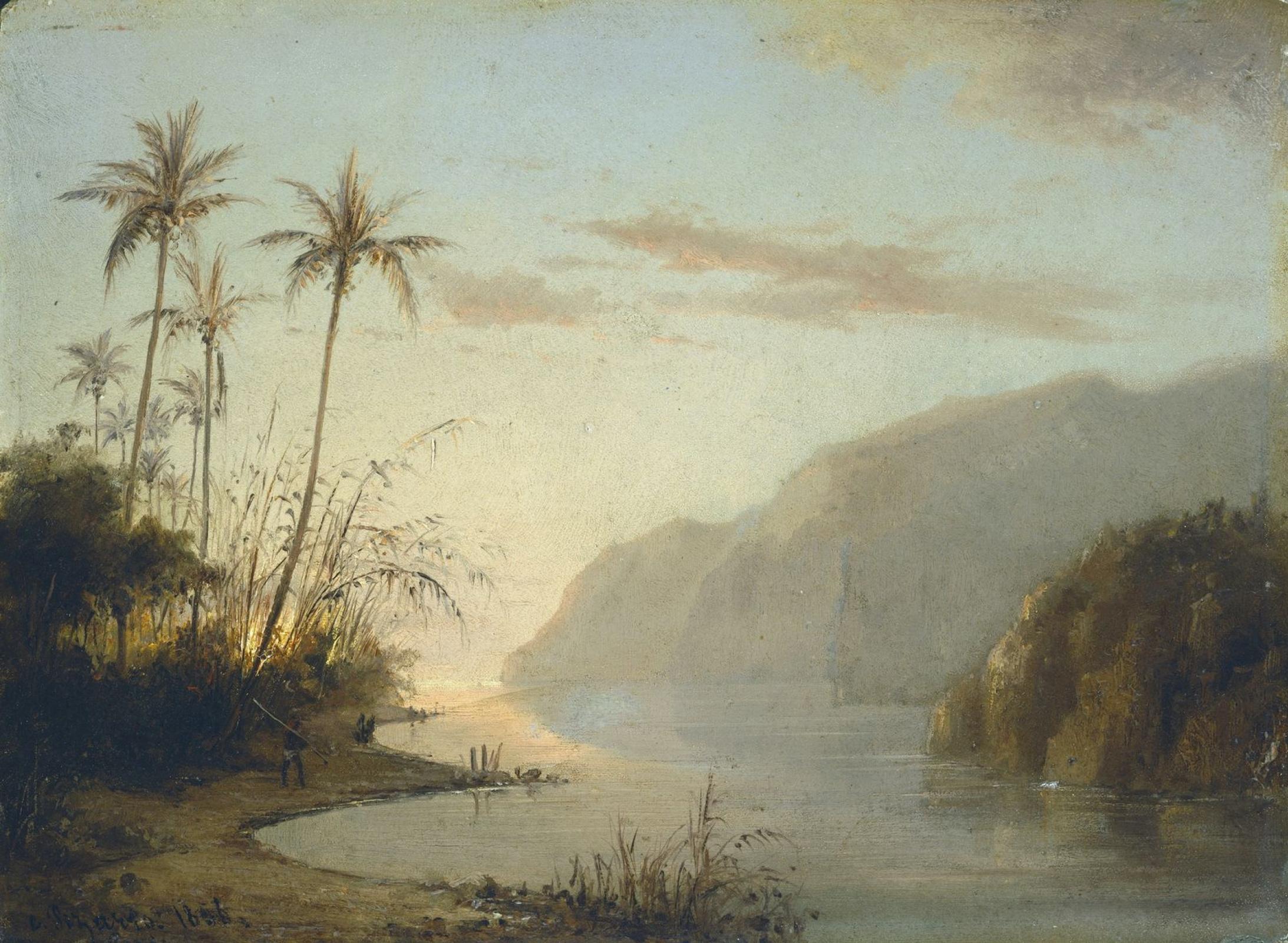 Камиль Писсарро. Залив в Сент-Томас