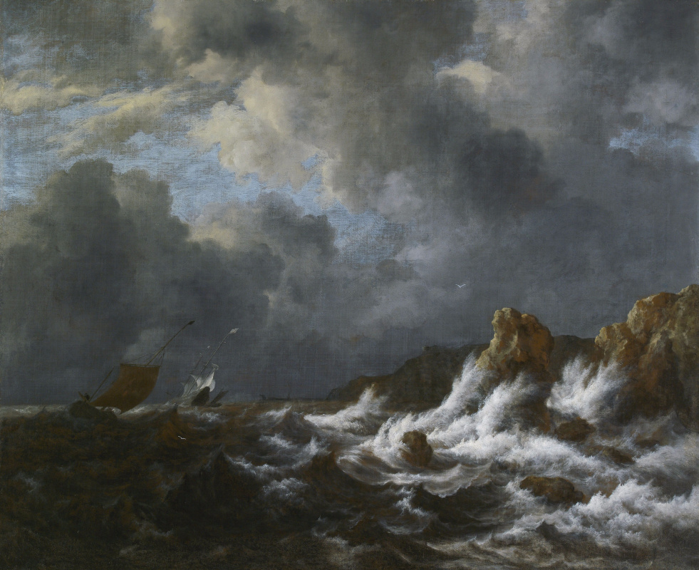 Якоб Исаакс ван Рейсдал. Штормовое море у побережья Норвегии