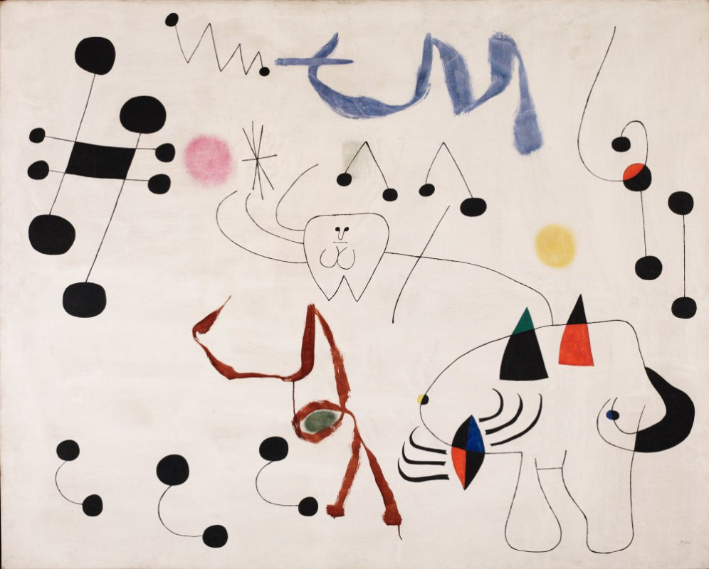 Joan Miro. Woman dreams of escape